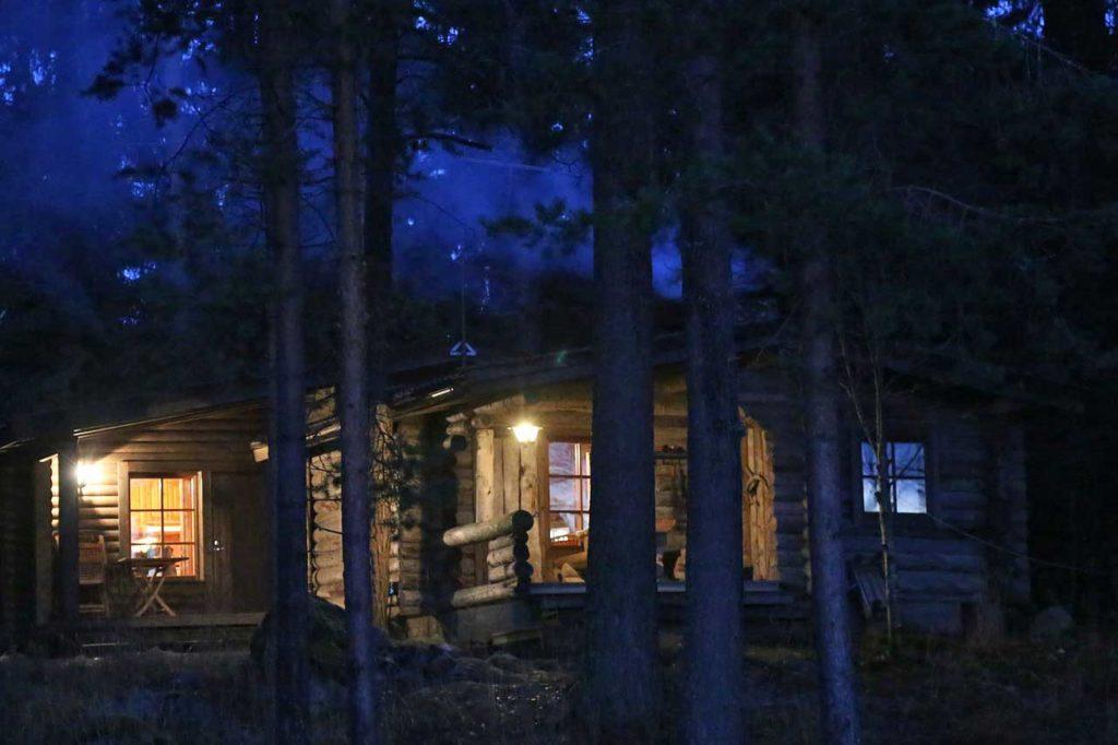 Blockhütte mit Sauna in Finnland